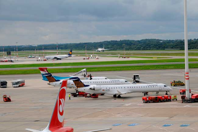Hamburg Airport hosts over 130 flights worldwide.
