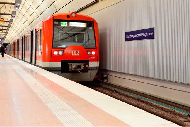 By S-Bahn suburban railway, get within 10 minutes to Hamburg city centre from the airport.
